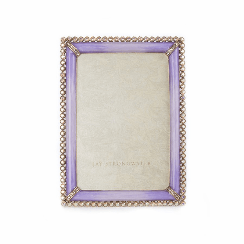 Jay Strongwater Lorraine Stone Edge 4 X 6 Square Frame Lavender