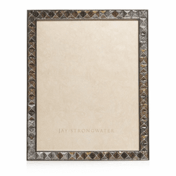 Jay Strongwater Vertex Pyramid 8 x 10 Frame in Mixed Metal