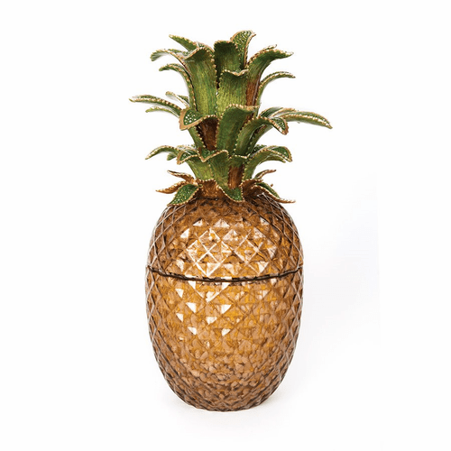 Jay Strongwater Winston Pineapple Jeweled Glass Jar - Bouquet - Special Order