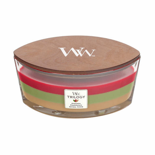 Joyful Gatherings WoodWick Trilogy Candle 16 oz. HearthWick Flame