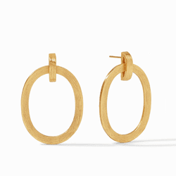 Julie Vos Aspen Doorknocker Earring - Gold