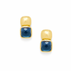 Julie Vos Catalina Earrings - Gold - Sapphire Blue