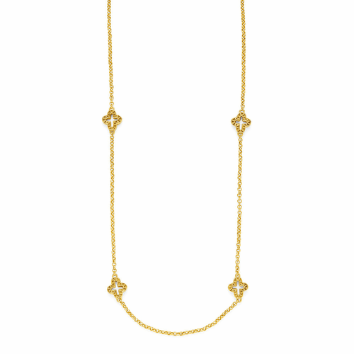 Julie Vos Florentine Station Necklace - Gold