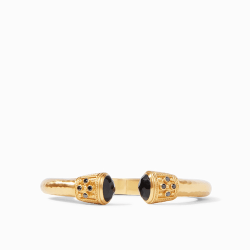 Julie Vos Paris Demi Luxe Hinge Cuff - Gold Faceted Black Onyx with Accents