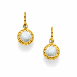 Julie Vos Sofia Earrings - Gold - Mother of Pearl with Pearl Accent