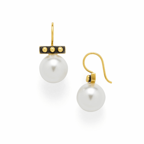 Julie Vos SoHo Earrings - Mixed Metal and Pearl