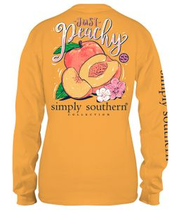 Just Peachy Mustard Long Sleeve Tee by Simply Southern