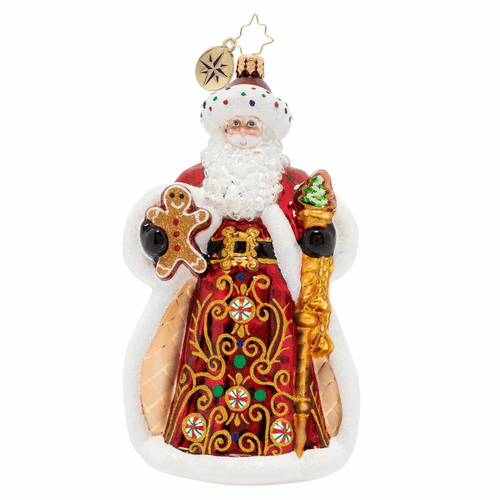 King Of Sweets Santa Ornament by Christopher Radko