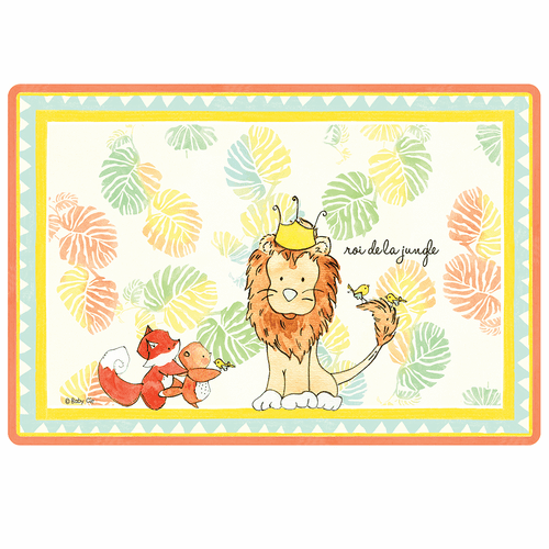 "King of the Jungle Anti-Slip 17"" x 11.5"" Placemat by Baby Cie"