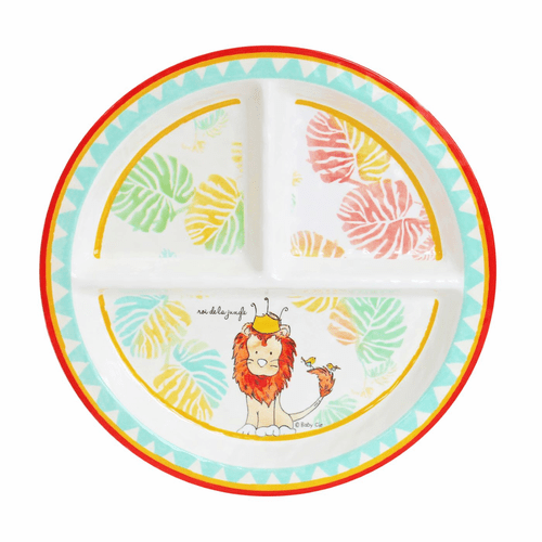King of the Jungle Sectioned Plate by Baby Cie
