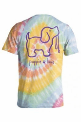 9e6a9cfb31c Large Aerial Spiral Pastel Tie Dye  2 Short Sleeve Tee by Puppie Love