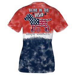 Large America Bone Short Sleeve Tee by Simply Southern