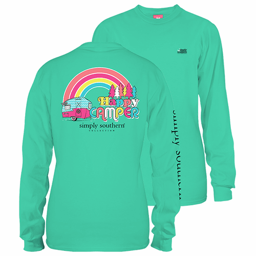 Large Happy Camper Aruba Long Sleeve Tee by Simply Southern