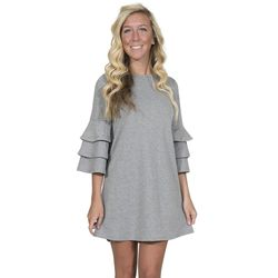 Large Heather Gray Winston Long Sleeve Tunic by Simply Southern