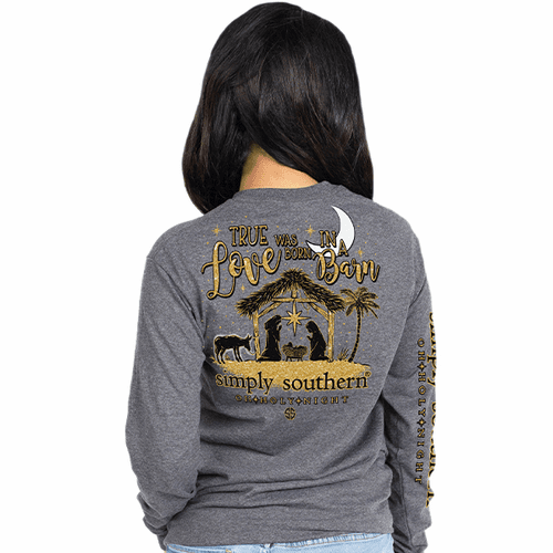 Large Holy Night Long Sleeve Tee by Simply Southern