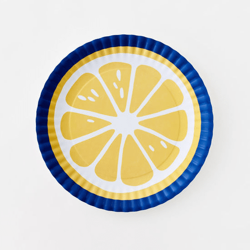 "Large Lemon Melamine 16"" Platter by One Hundred 80 Degrees"