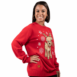 Large Reindeer Sweater by Simply Southern