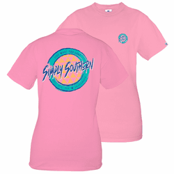 Large Retro Palm Flamingo Short Sleeve Tee by Simply Southern