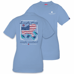 Large Simply Strong Hurricane Relief Blue Short Sleeve Tee by Simply Southern