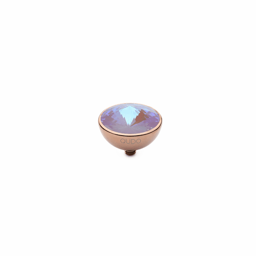 Lavender Delite 13mm Rose Gold Interchangeable Top by Qudo Jewelry