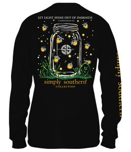 Let Light Shine Black Long Sleeve Tee by Simply Southern