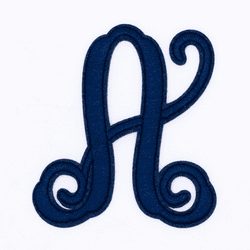 "Letter ""A""  Navy Monogram by Simply Southern"