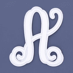 "Letter ""A""  White Monogram by Simply Southern"