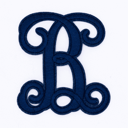 "Letter ""B""  Navy Monogram by Simply Southern"