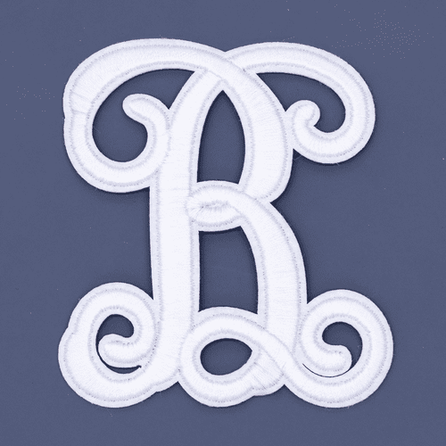 """Letter """"B""""  White Monogram by Simply Southern"""