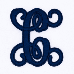 """Letter """"C""""  Navy Monogram by Simply Southern"""