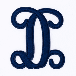 """Letter """"D""""  Navy Monogram by Simply Southern"""