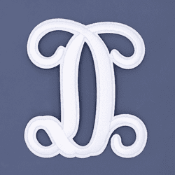 """Letter """"D""""  White Monogram by Simply Southern"""