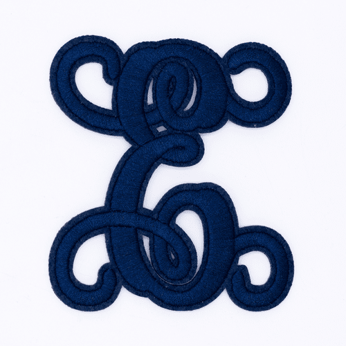 "Letter ""E""  Navy Monogram by Simply Southern"