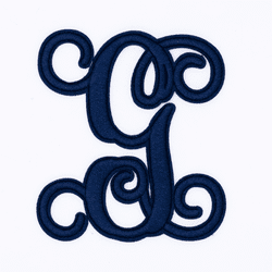 """Letter """"G""""  Navy Monogram by Simply Southern"""