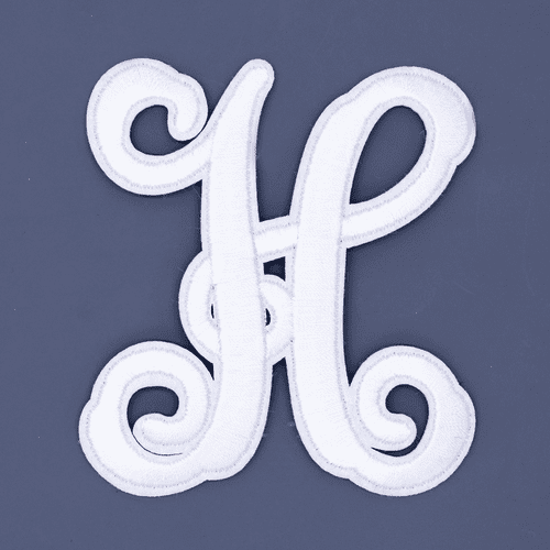 """Letter """"H""""  White Monogram by Simply Southern"""