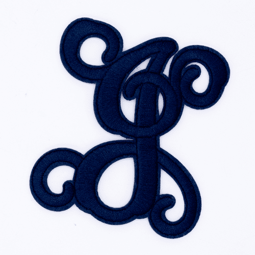 "Letter ""J""  Navy Monogram by Simply Southern"