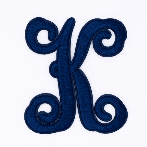 """Letter """"K""""  Navy Monogram by Simply Southern"""