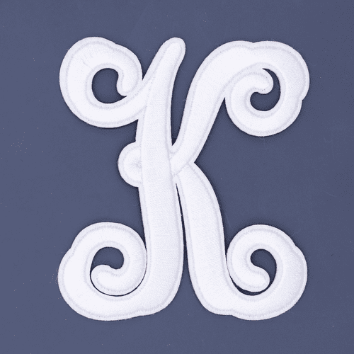 "Letter ""K""  White Monogram by Simply Southern"
