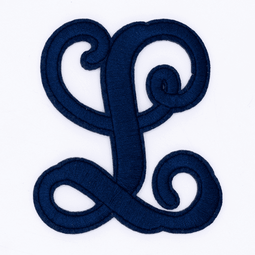 "Letter ""L""  Navy Monogram by Simply Southern"