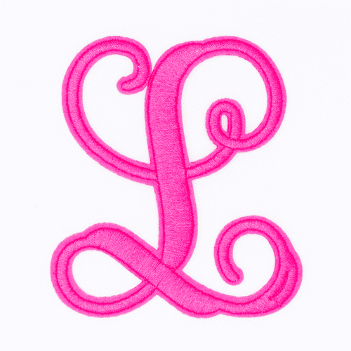 """Letter """"L""""  Pink Monogram by Simply Southern"""