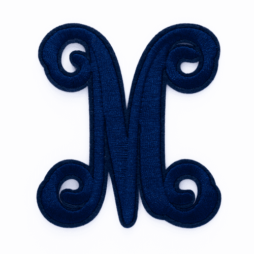 "Letter ""M""  Navy Monogram by Simply Southern"