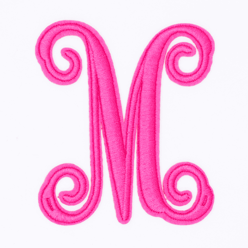 """Letter """"M""""  Pink Monogram by Simply Southern"""