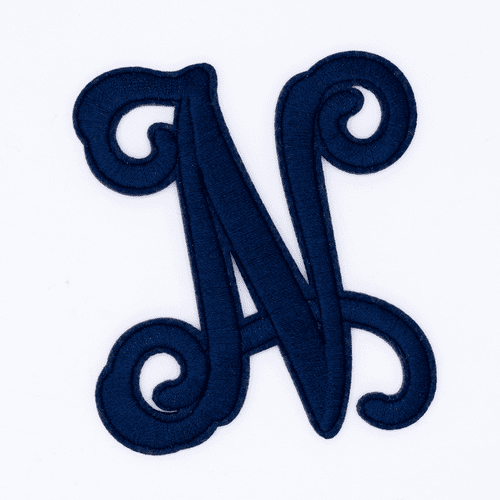 "Letter ""N""  Navy Monogram by Simply Southern"