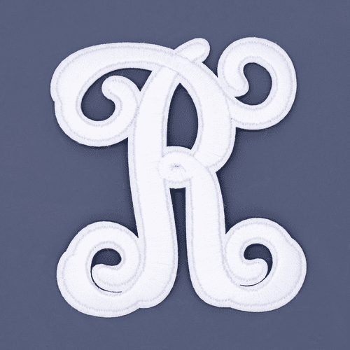 "Letter ""R""  White Monogram by Simply Southern"