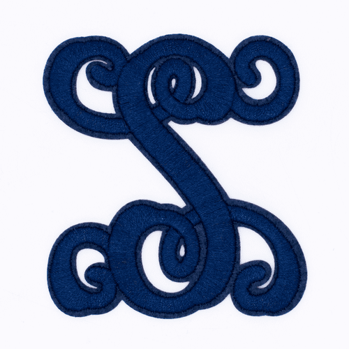 """Letter """"S""""  Navy Monogram by Simply Southern"""