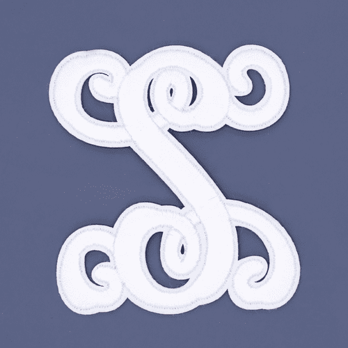 "Letter ""S""  White Monogram by Simply Southern"