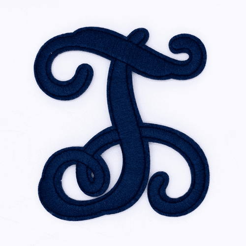 "Letter ""T""  Navy Monogram by Simply Southern"