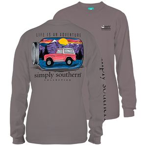Life is an Adventure Steel Long Sleeve Tee by Simply Southern