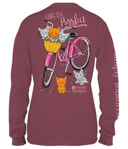 Life is Purrfect  Maroon Long Sleeve Tee by Simply Southern