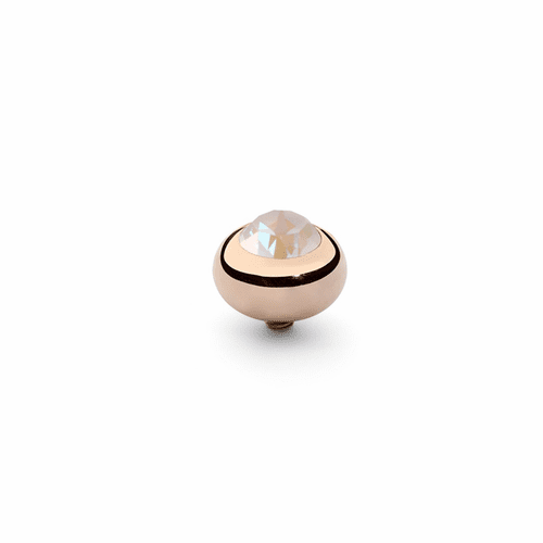 Light Grey Delite 10mm Rose Gold Interchangeable Top by Qudo Jewelry